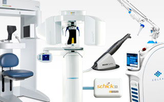 Images of dental equipment available for financing through Patterson