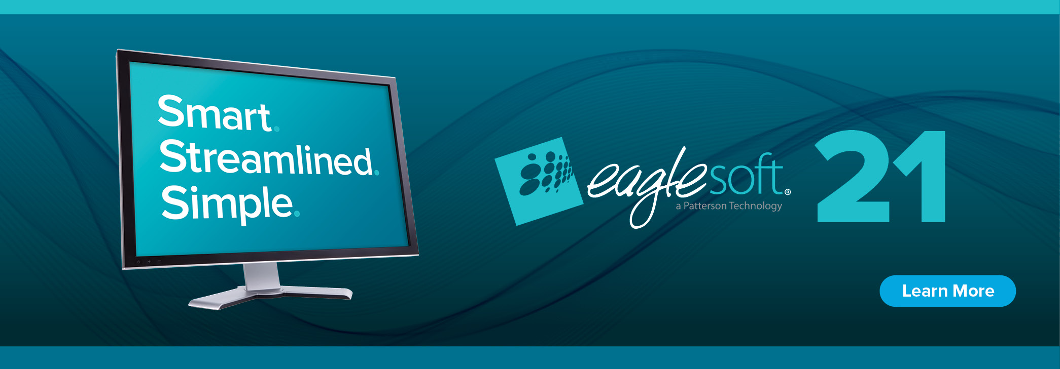 Smart. Streamlined. Simple. Eaglesoft 21. Click to learn more