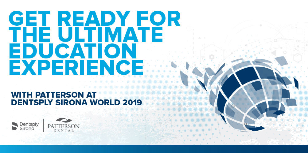 Get ready for the ultimate education experience with Patterson at Dentsply Sirona World 2019
