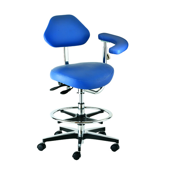 Royal A2160 Dental Assistant's Stool in Blue