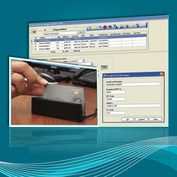Screenshot of Eaglesoft's credit card processing software