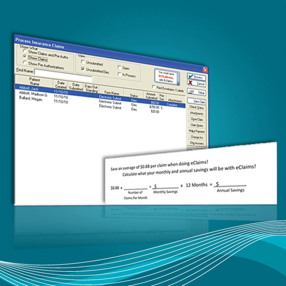 Screenshot for Eaglesoft's eClaims software